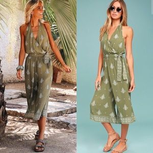 Faithfull the Brand Lime Sage Jumpsuit